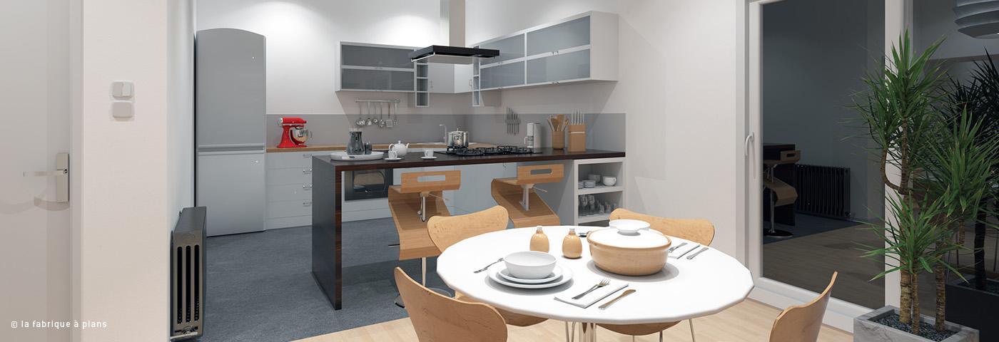 Dessinateur projeteur modelisation cuisine la fabrique for Modelisation cuisine